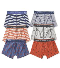 6-pack boxer shorts boys - orange & blue - Little Label
