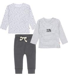 baby kleding set antraciet grijs Little Label
