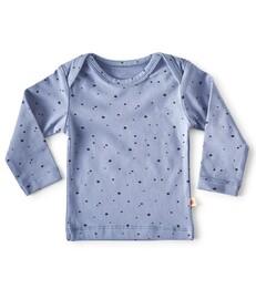 baby shirt lange mouw - blauw met sterren print - Little Label