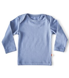 baby shirt lange mouw - blauw - Little Label