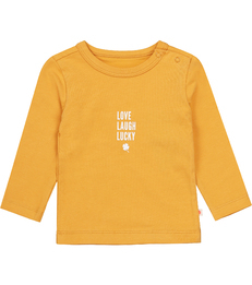 baby shirt - golden yellow lucky