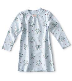 blauw meisjes nachthemd bloemetjes Little Label