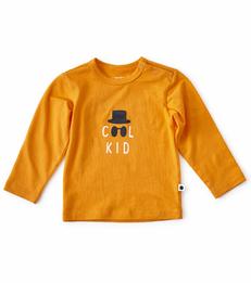 baby shirt lange mouw - oranje - Little Label