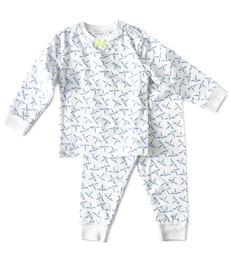 baby meisjes pyjama blauwe libellen-print Little Label