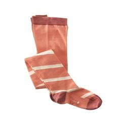 Strumpfhose - diagonal stripe pink
