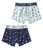 jungen shorts 2-pack - palm azur & palm blue