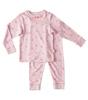 schlafanzug - star lilac pink