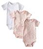 kurzarmbody 3er-pack - pink white