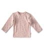 baby langarmshirt - light pink hearts