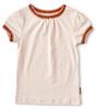 t-shirt contrast rib baby mädchen - warm light pink