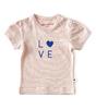 baby mädchen kurzarmshirt - fluo pink stripe