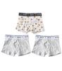 boxershorts jungen 3-pack - weiß tiger combi