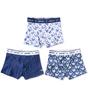 boxershorts jungen 3er-pack - blau wale combi