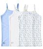 unterhemden mädchen 3-er pack - blau combi