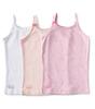 unterhemden mädchen 3-er pack - rosa combi