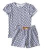 sommer schlafanzug - herzen blau