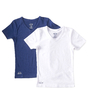 kurzarmshirts jungen v-neck 2er-pack - weiß & blau