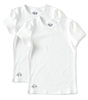 mädchen t-shirts 2er-pack - weiß