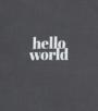 anthracite hello world Little Label