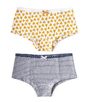 hipster set - hearts yellow & mini stripe blue Little Label