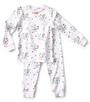 meisjes pyjama - flower white - Little Label