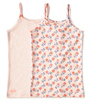 meisjes hemden set roze combi Little Label