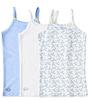 meisjes hemden set blue combi Little Label