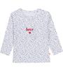 wit stippen LOVE baby tee Little Label