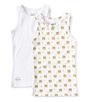 set jongenshemden wit en tijger print Little Label organic cotton
