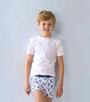 foto jongens shirts korte mouw wit Little Label